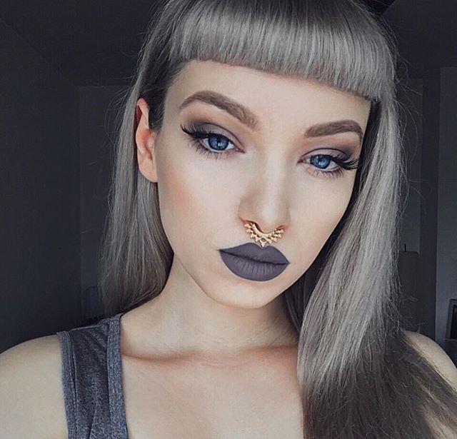 gray, lipstick, trend, 2017